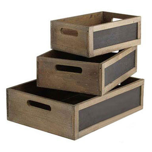 Blackboard wooden Crates 34cm long